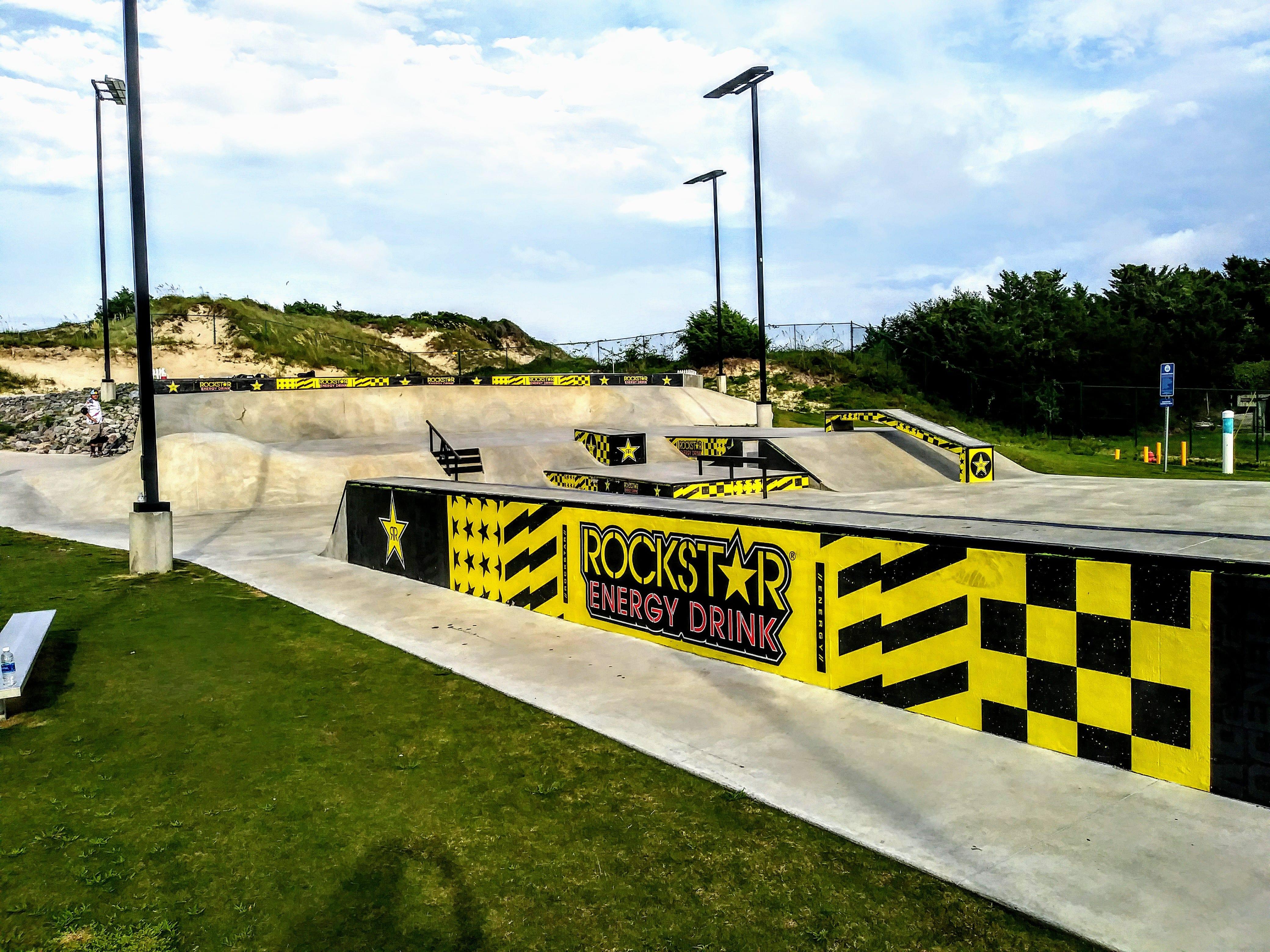Skateboard Park In Atlantic Beach Nc Town