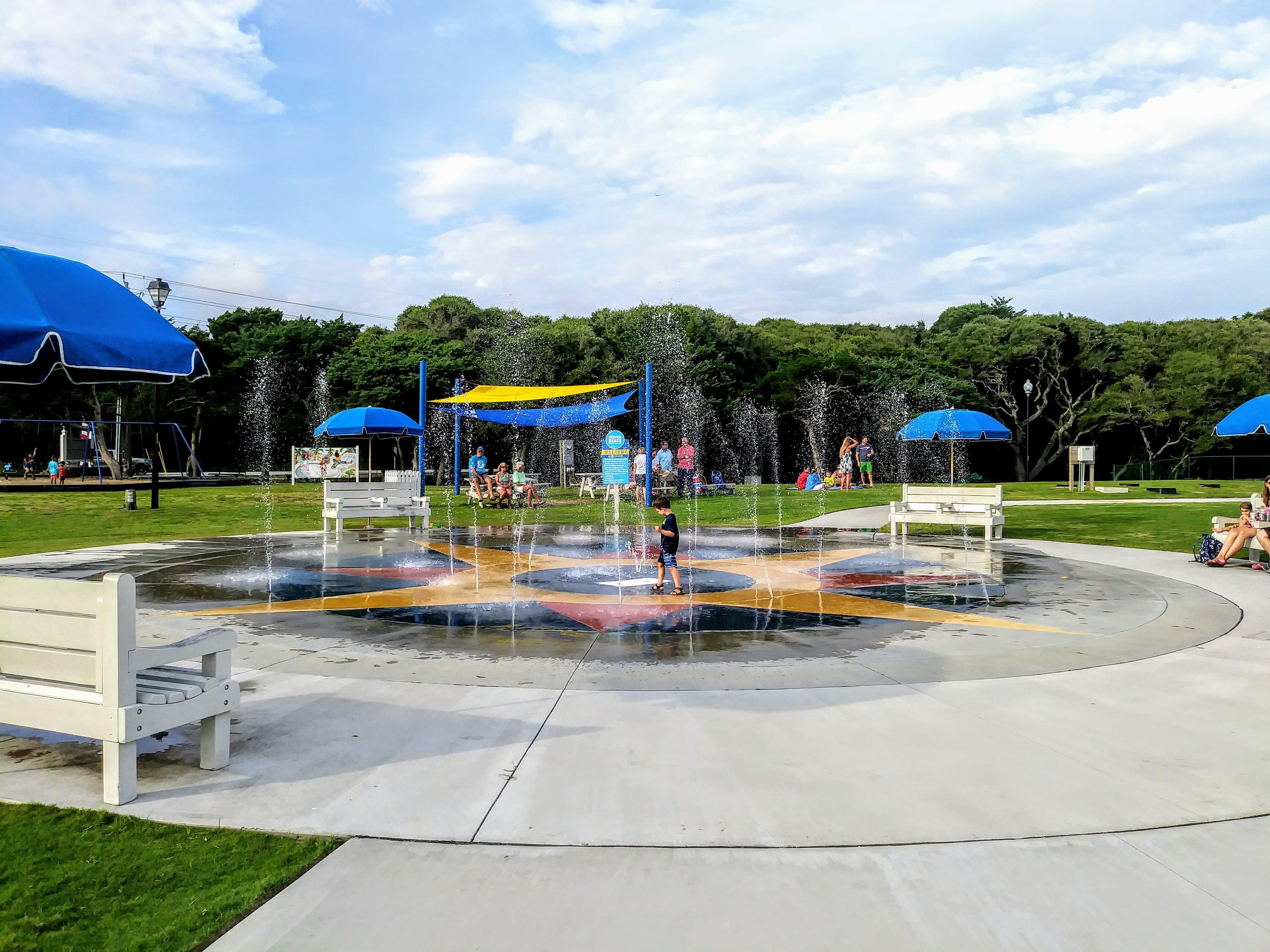 The Splash Pad In Atlantic Beach Nc Town Park